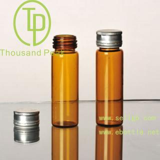 TP-4-02 15ml 棕色玻璃瓶 带防盗铝盖 适合装保健品 药品等