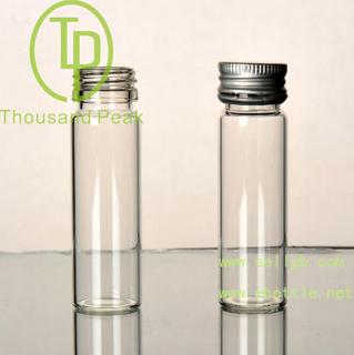 TP-4-03 15ml 透明玻璃瓶 带防盗铝盖 适合装保健品 药品等