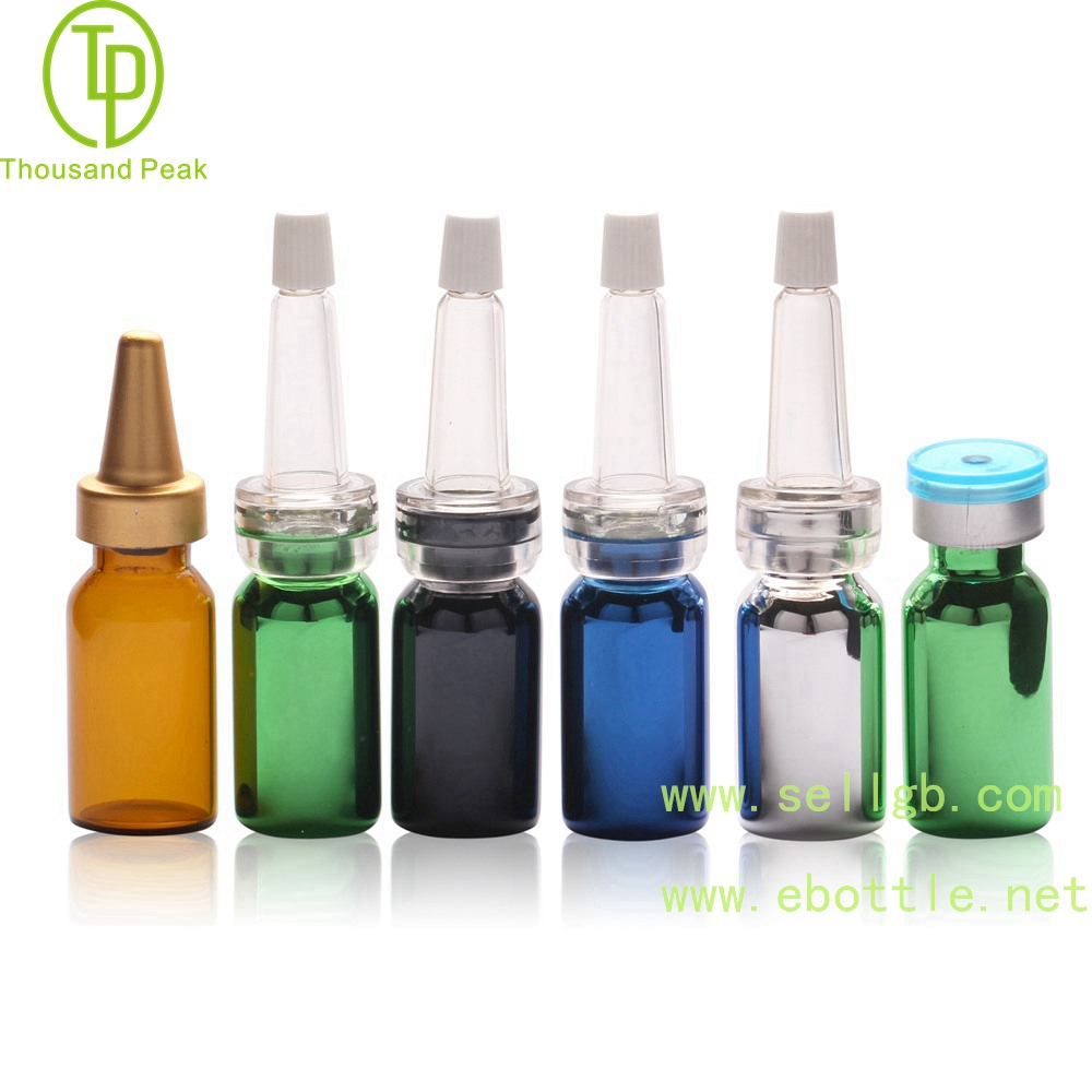 TP-2-01 3ml 5ml 电镀金属色 精华素瓶配进口材质喇叭头