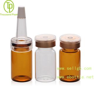 TP-2-04 7ml 透明棕色 精华素瓶配进口材质喇叭头